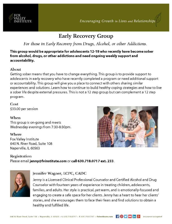Early Recovery Support Group